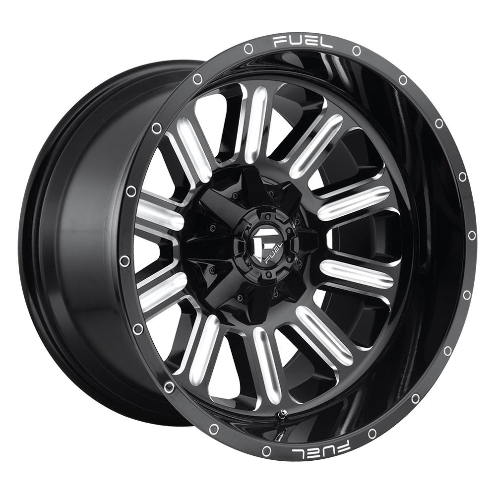 Fuel Wheels Hardline D620 - Gloss Black & Milled