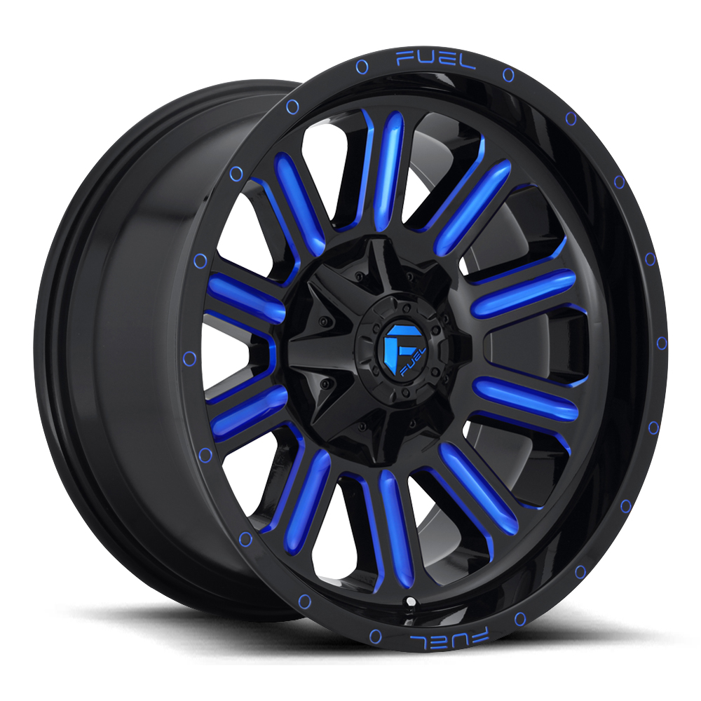 Hardline D646 - Gloss Black with Candy Blue