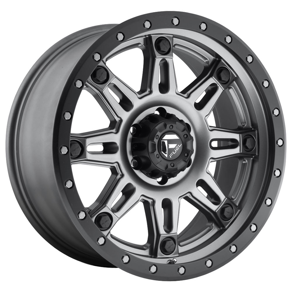 Fuel Wheels Hostage III D568 - Matte Anthracite with Black Ring Rim