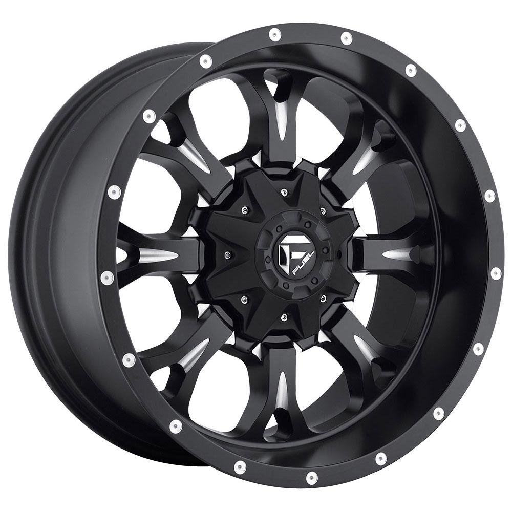 Fuel Wheels Krank D517 - Matte Black & Milled