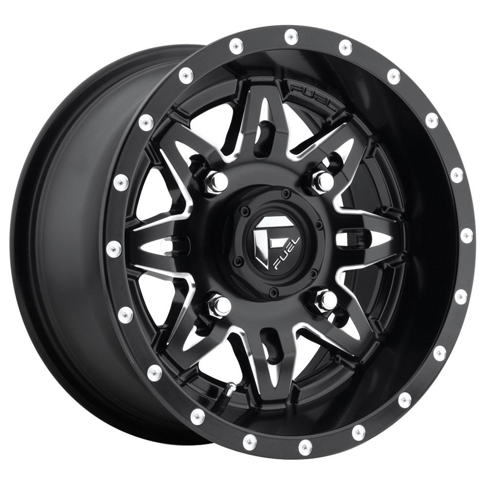 Fuel Wheels Lethal D567 UTV - Black & Milled