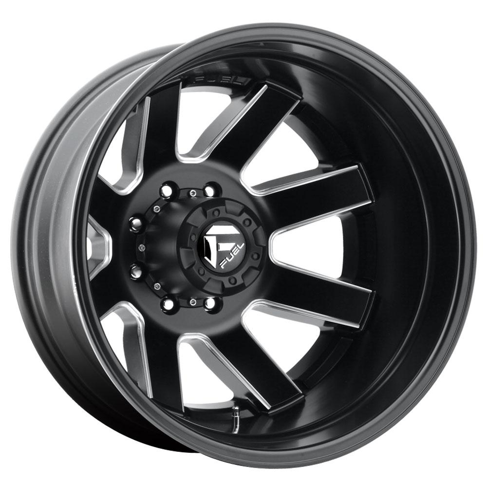 Fuel Wheels Maverick Dually Rear D538 - Black & Milled Rim