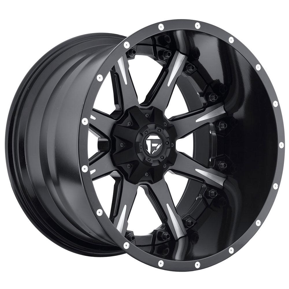 Fuel Wheels Nutz D251 - Matte Black & Milled