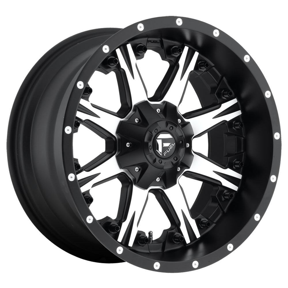 Fuel Wheels Nutz D541 - Black & Machined