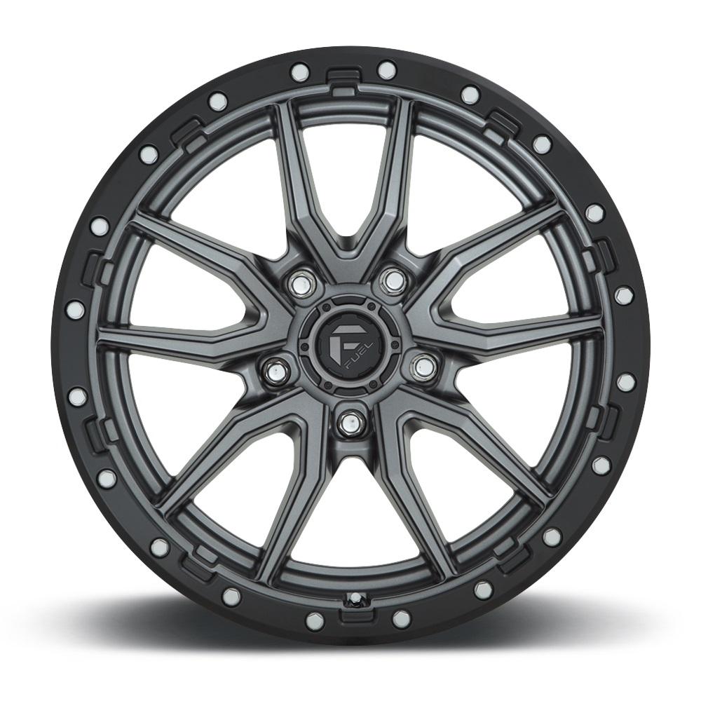 Fuel Wheels Rebel 5 D680 - Matte Gunmetal Black Bead Ring Rim