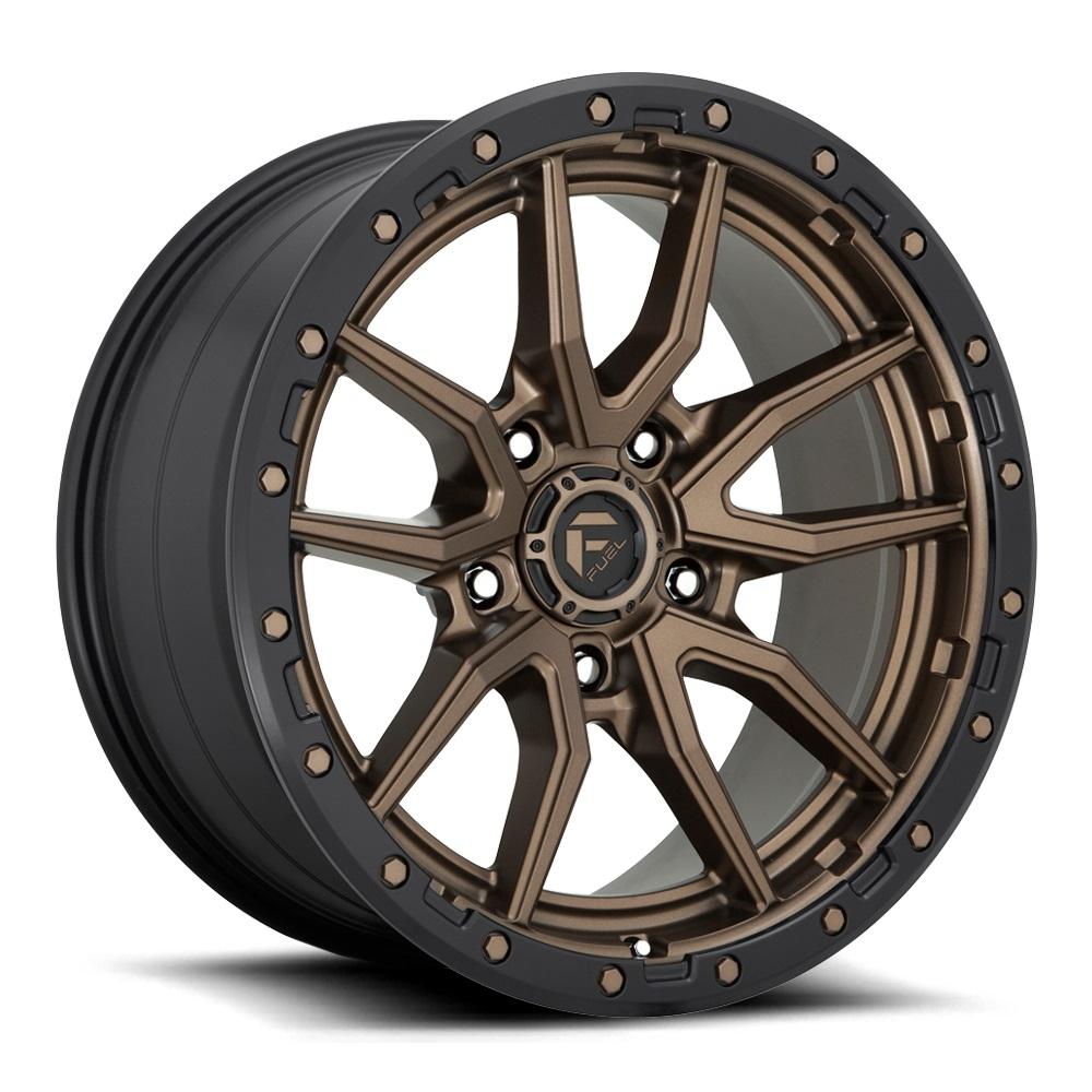 Fuel Wheels Rebel 5 D681 - Matte Bronze Black Bead Ring Rim