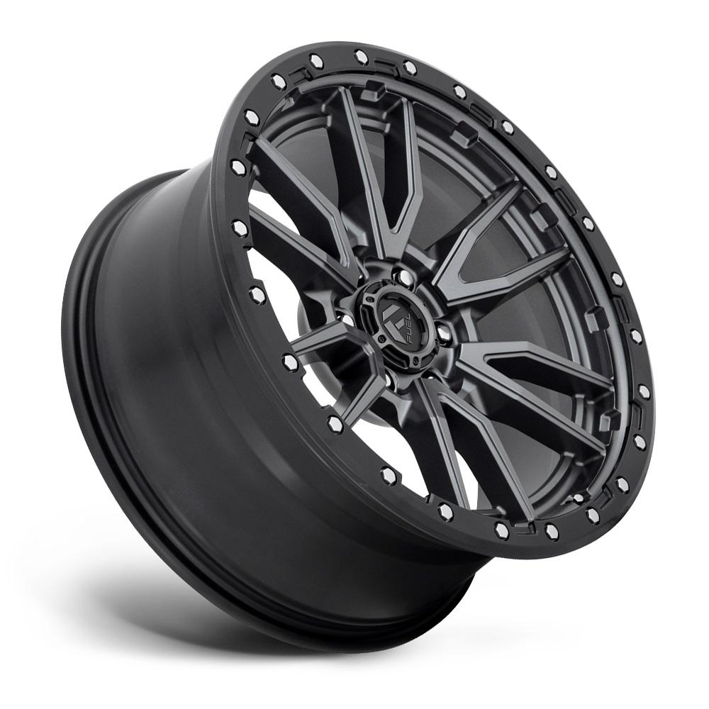 Fuel Wheels Rebel 6 D680 - Matte Gunmetal Black Bead Ring Rim