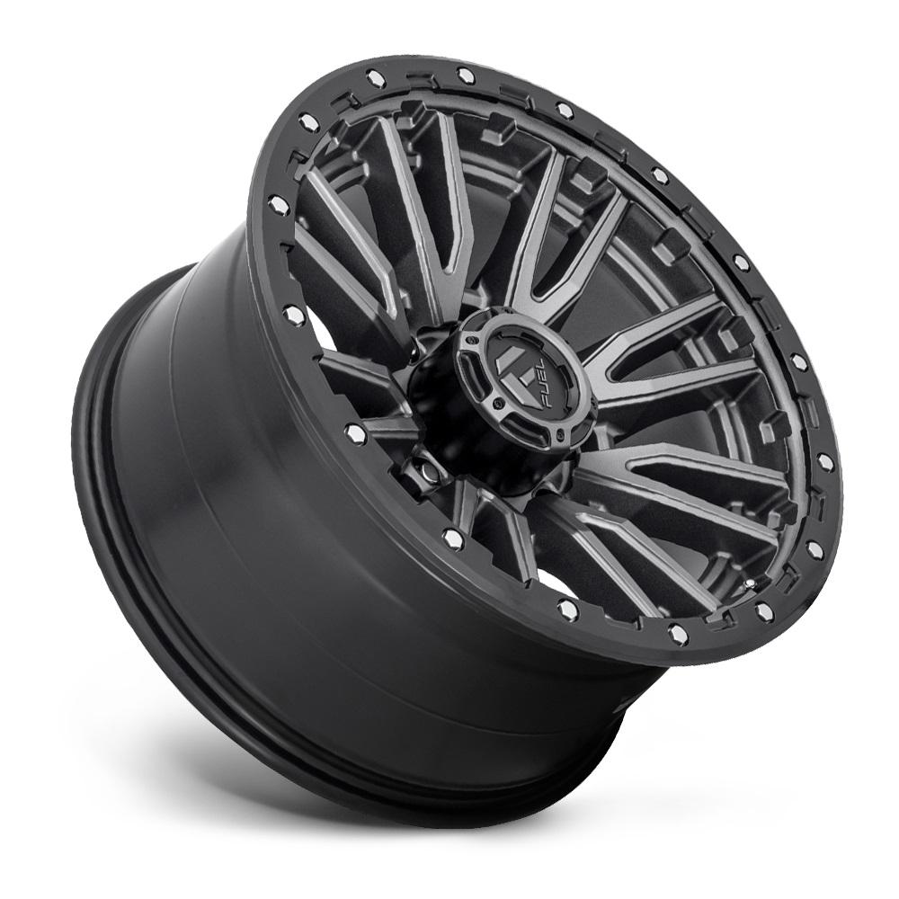 Fuel Wheels Rebel 8 D680 - Matte Gunmetal Black Bead Ring Rim