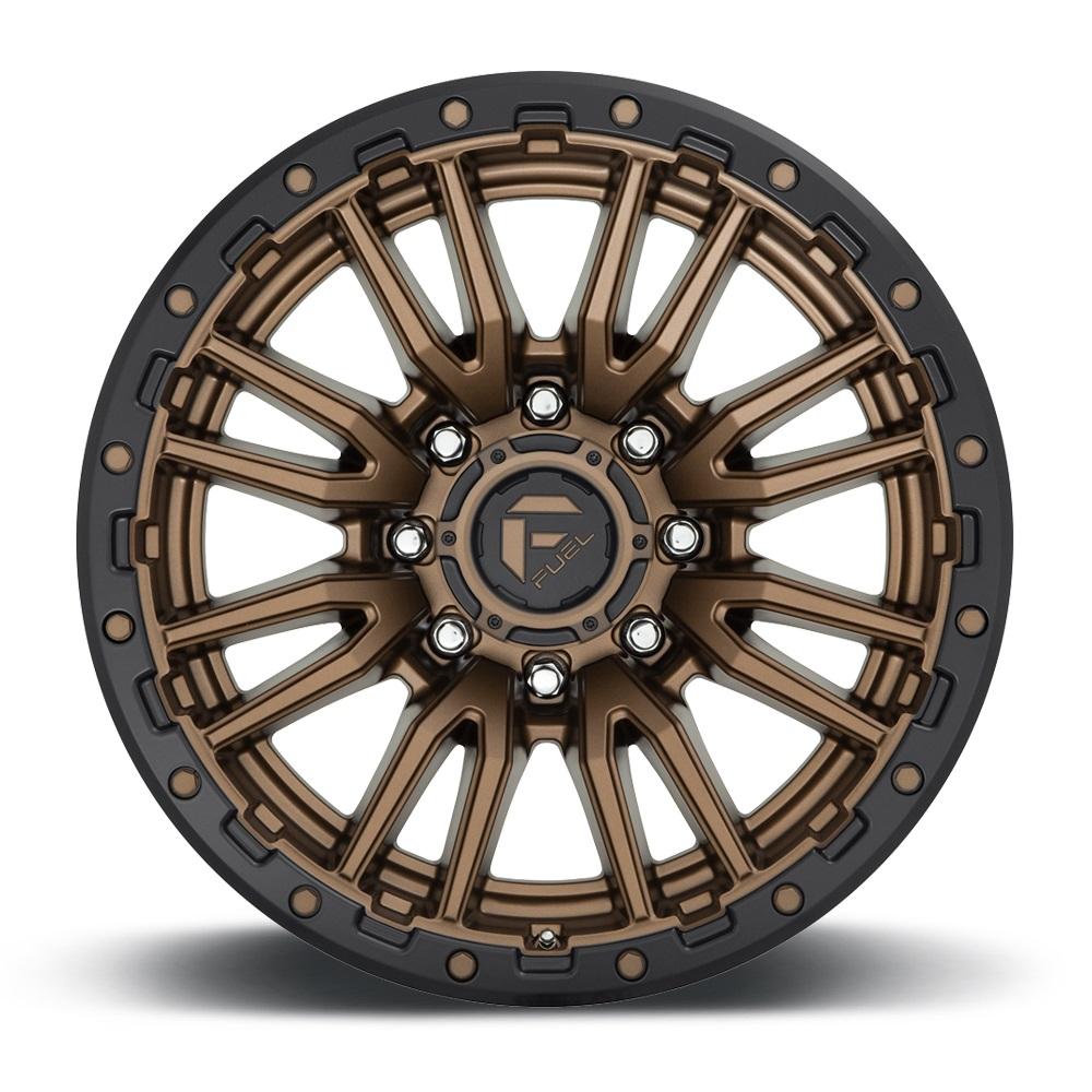 Fuel Wheels Rebel 8 D681 - Matte Bronze Black Bead Ring Rim