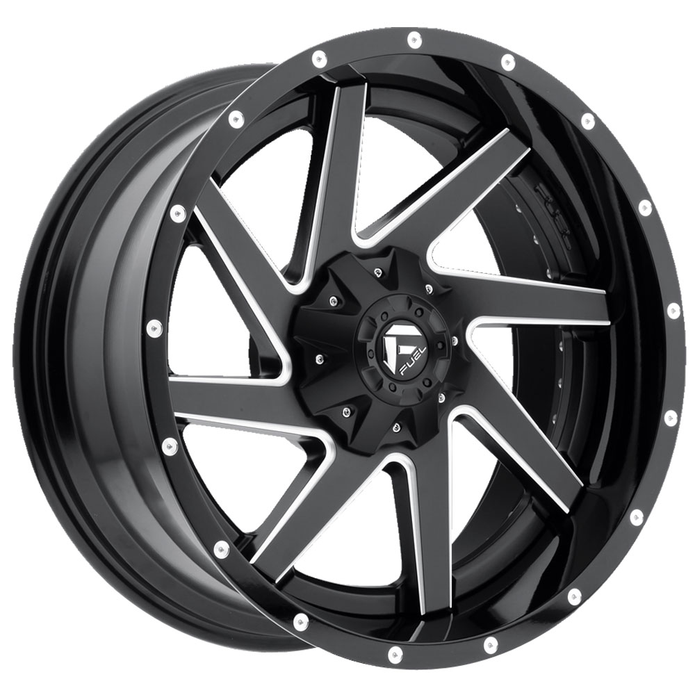 Fuel Wheels Renegade D265 - Black/Milled Center w/Gloss Black Outer