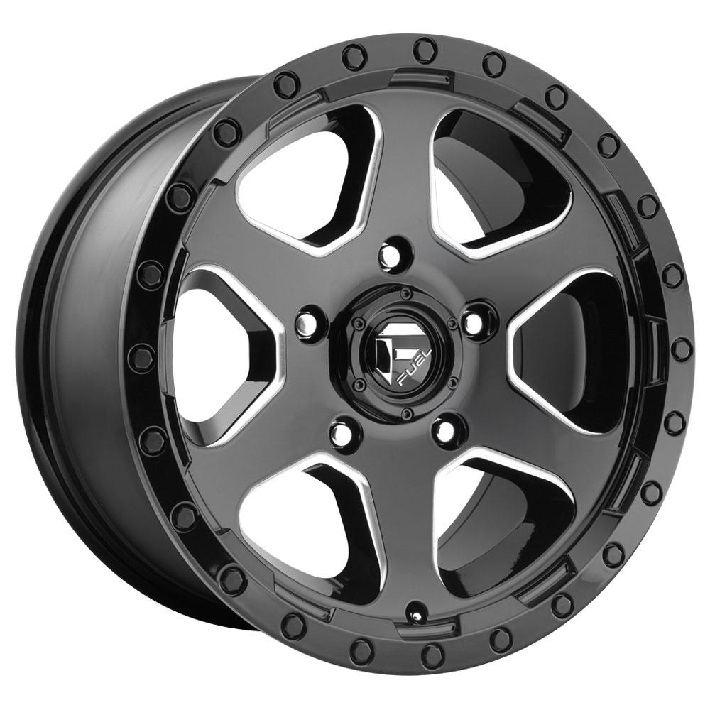 Fuel Wheels Ripper D590 - Gloss Black & Milled