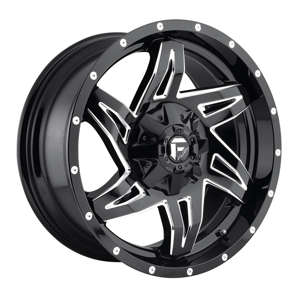 Fuel Wheels Rocker D613 - Gloss Black & Milled Rim