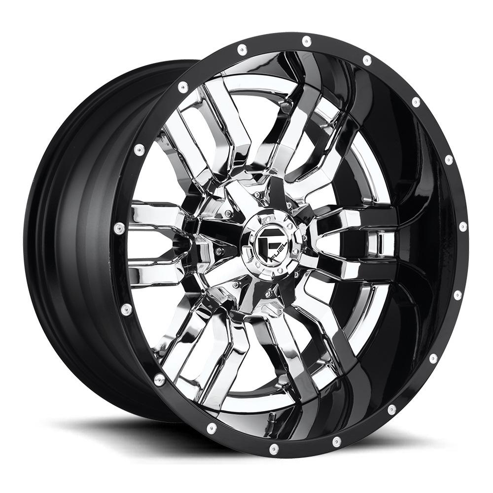 Fuel Wheels Sledge D270 - Chrome with Gloss Black Lip