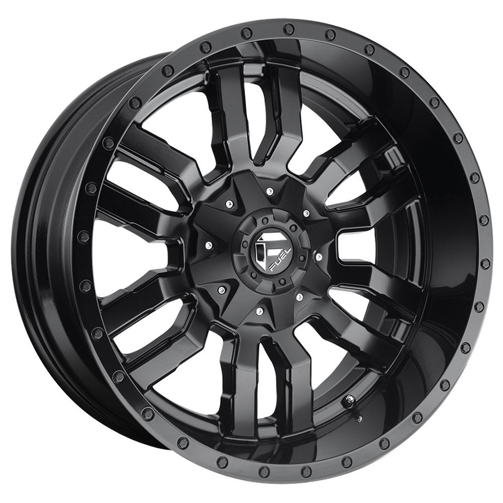 Fuel Wheels Sledge D596 - Matte Black with Gloss Black Lip