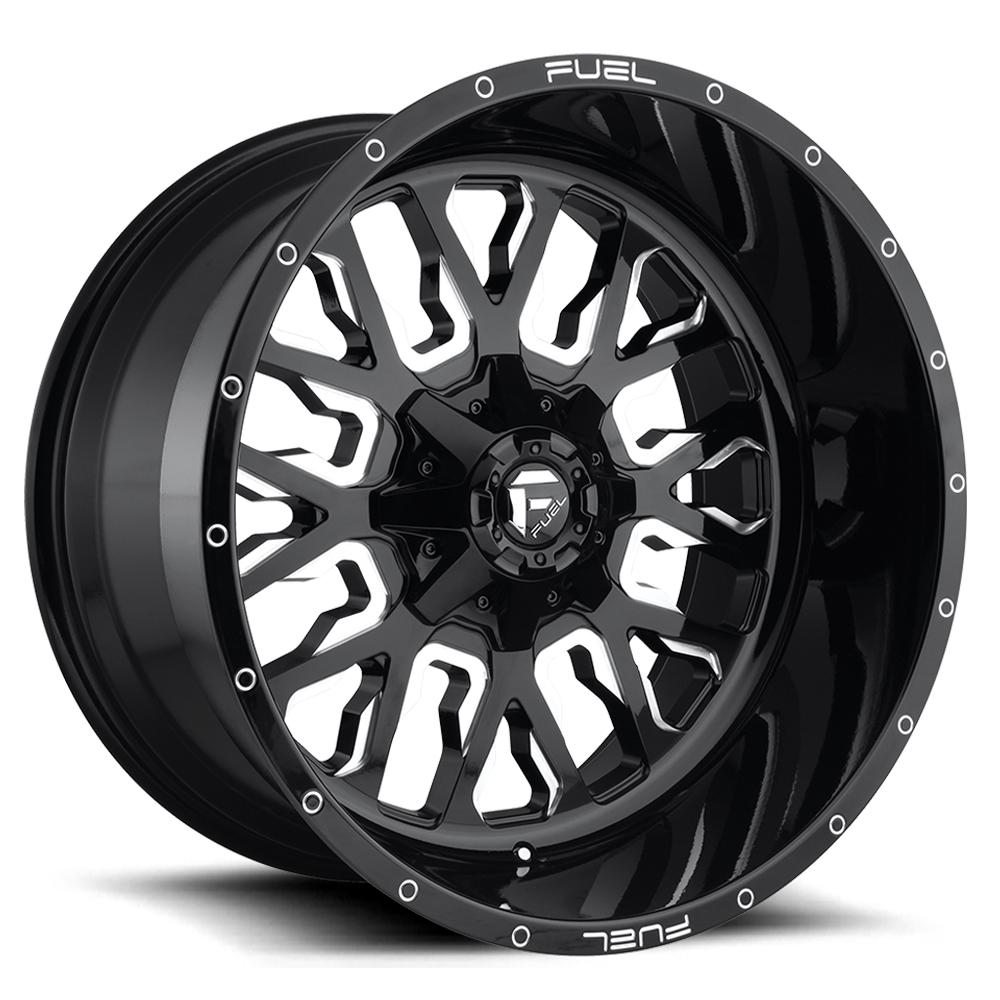Fuel Wheels Stroke D611 - Gloss Black & Milled