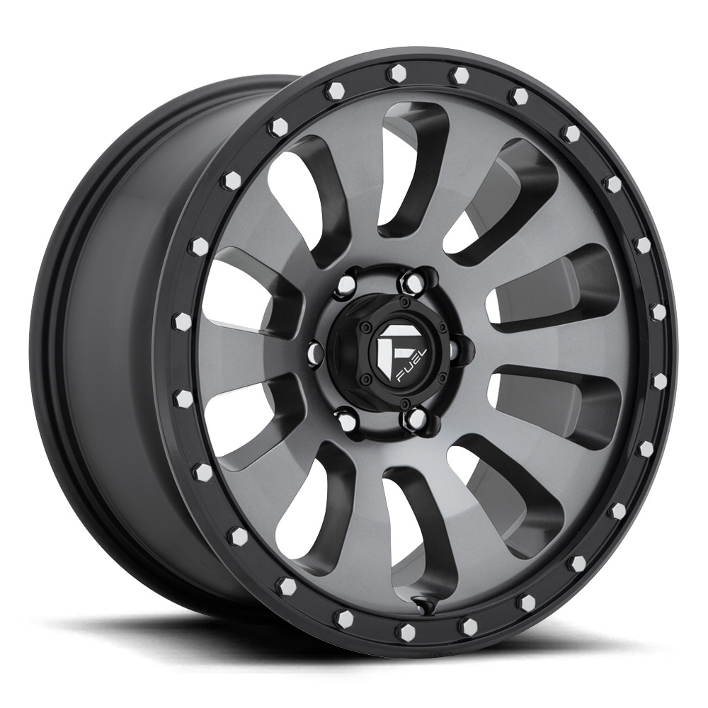 Fuel Wheels Tactic D648 - Matte Anthracite / Machined