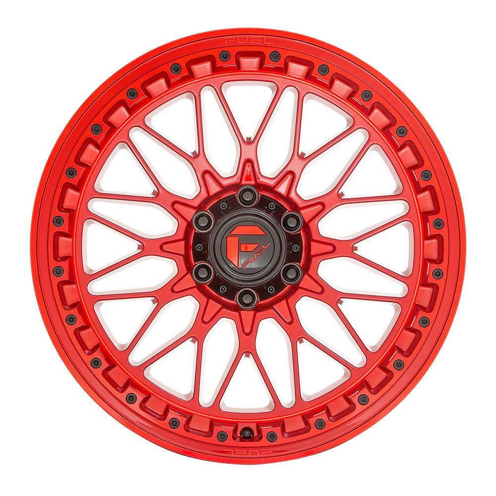 Fuel Wheels Trigger D758 - Gloss Red Rim