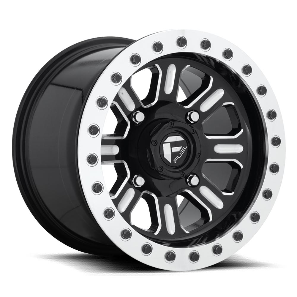 Hardline Beadlock D910 - Gloss Black & Milled