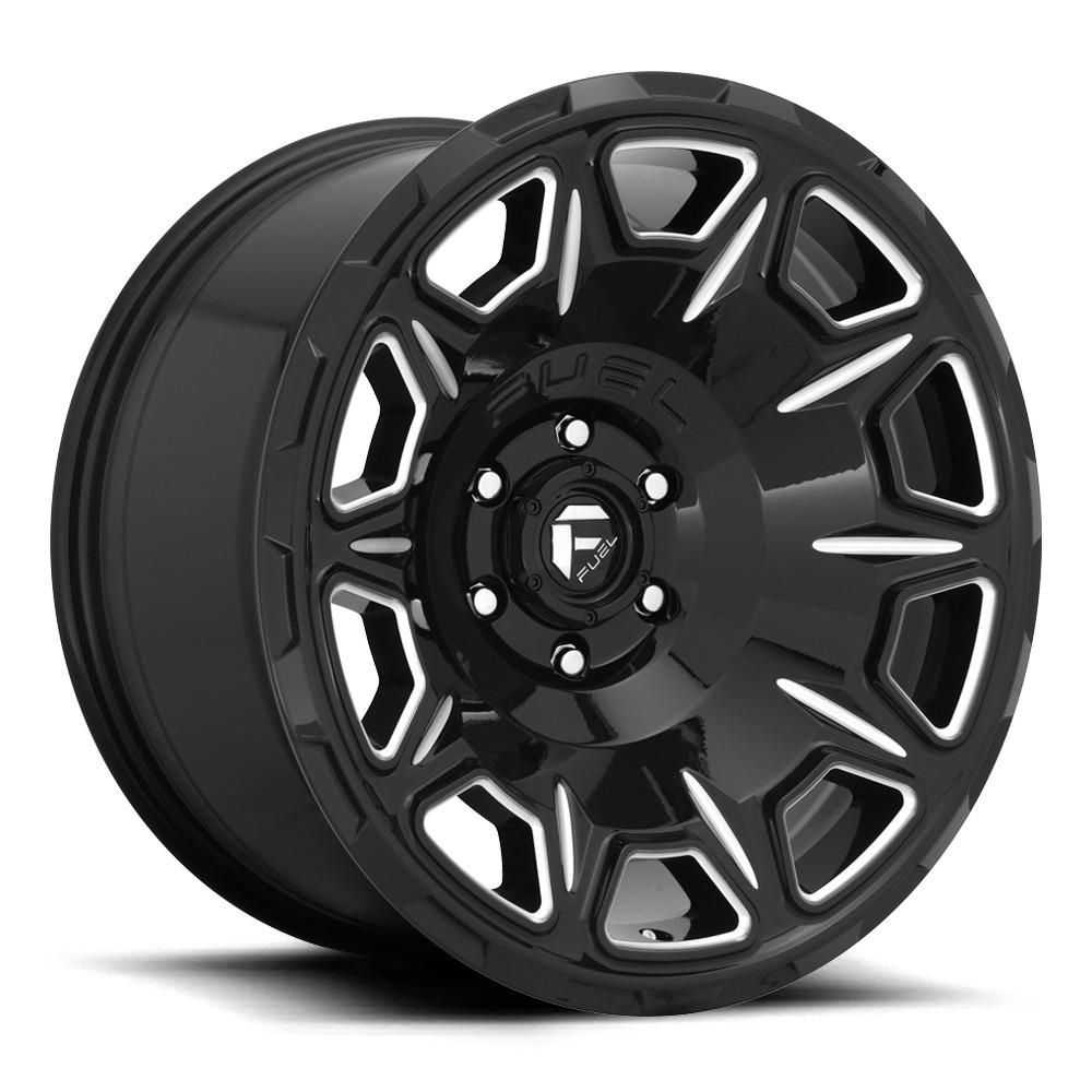 Fuel Wheels Vengeance D688 - Gloss Black / Milled