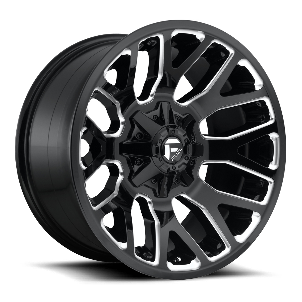 Fuel Wheels Warrior D623-Black - Gloss Black & Milled Rim