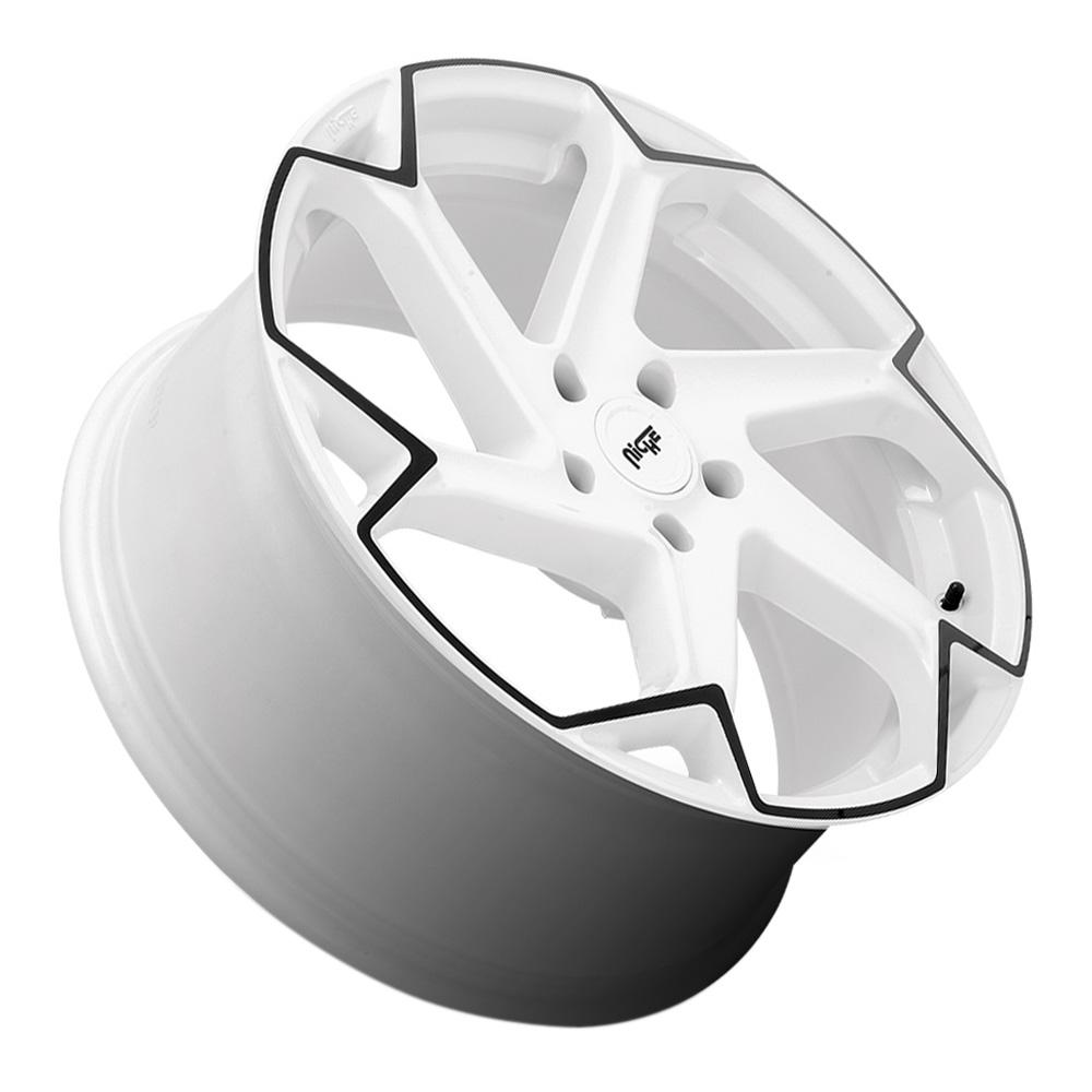 Niche Wheels M257 Flash - Gloss White with Black Face Rim