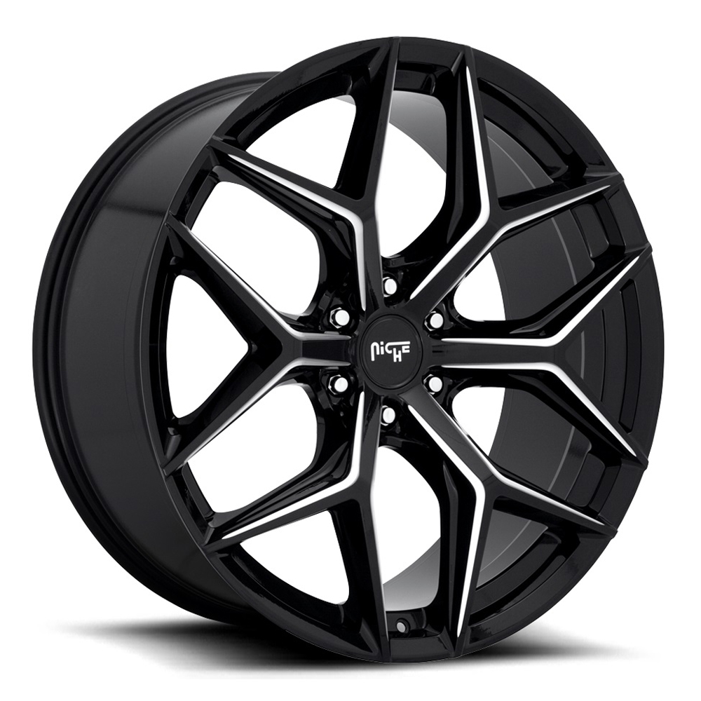 Niche Wheels Vice SUV M232 - Gloss Black with Milled Spoke Edges