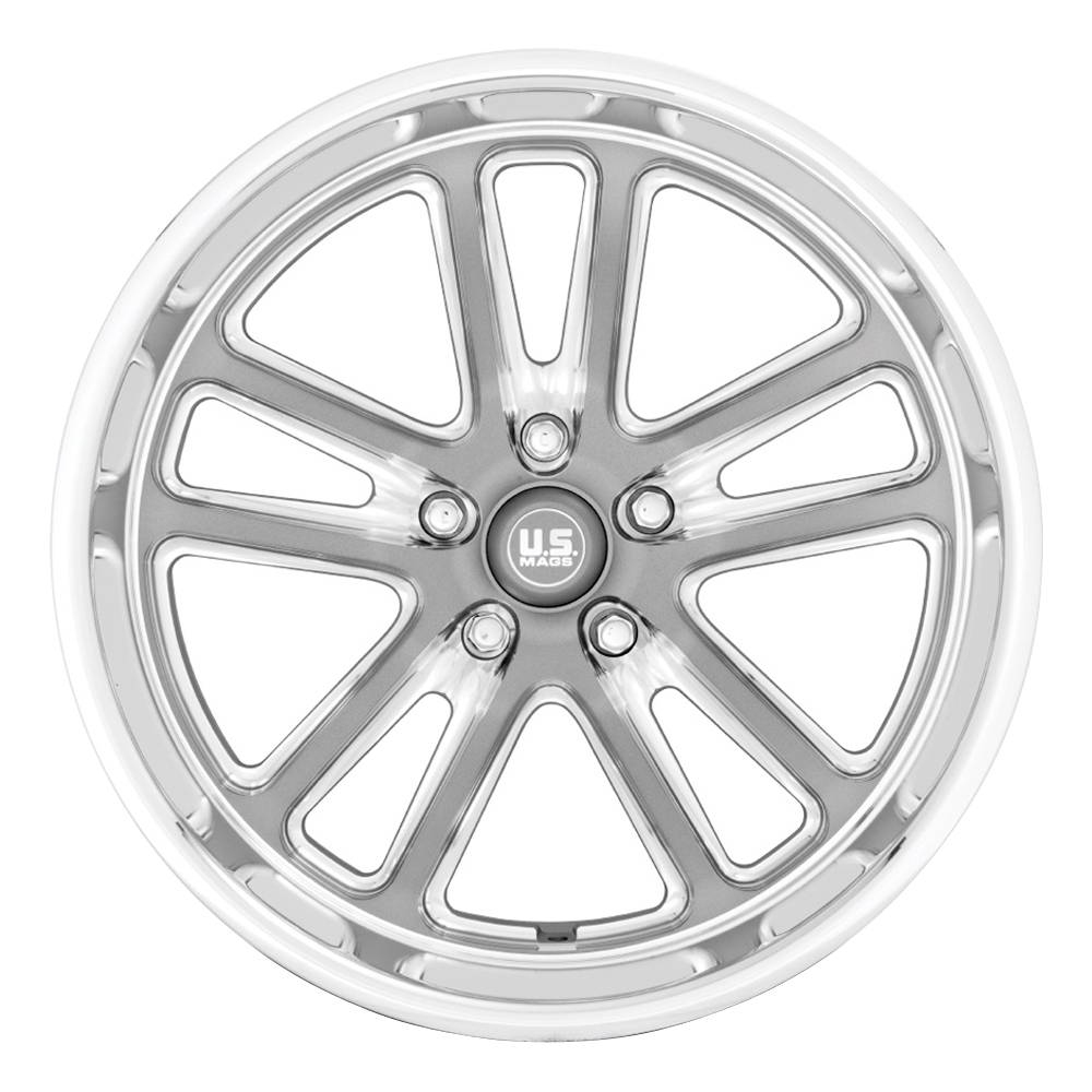US Mag Wheels U130 Bullet - Textured Gunmetal With Milled Edges Rim