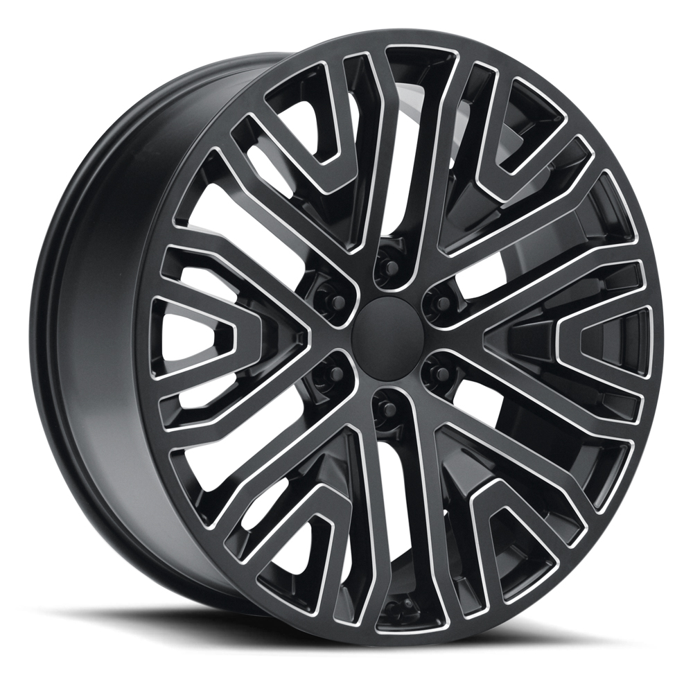 Topline Replica Wheels V1190 Next Gen Silverado - Satin Black Milled Rim