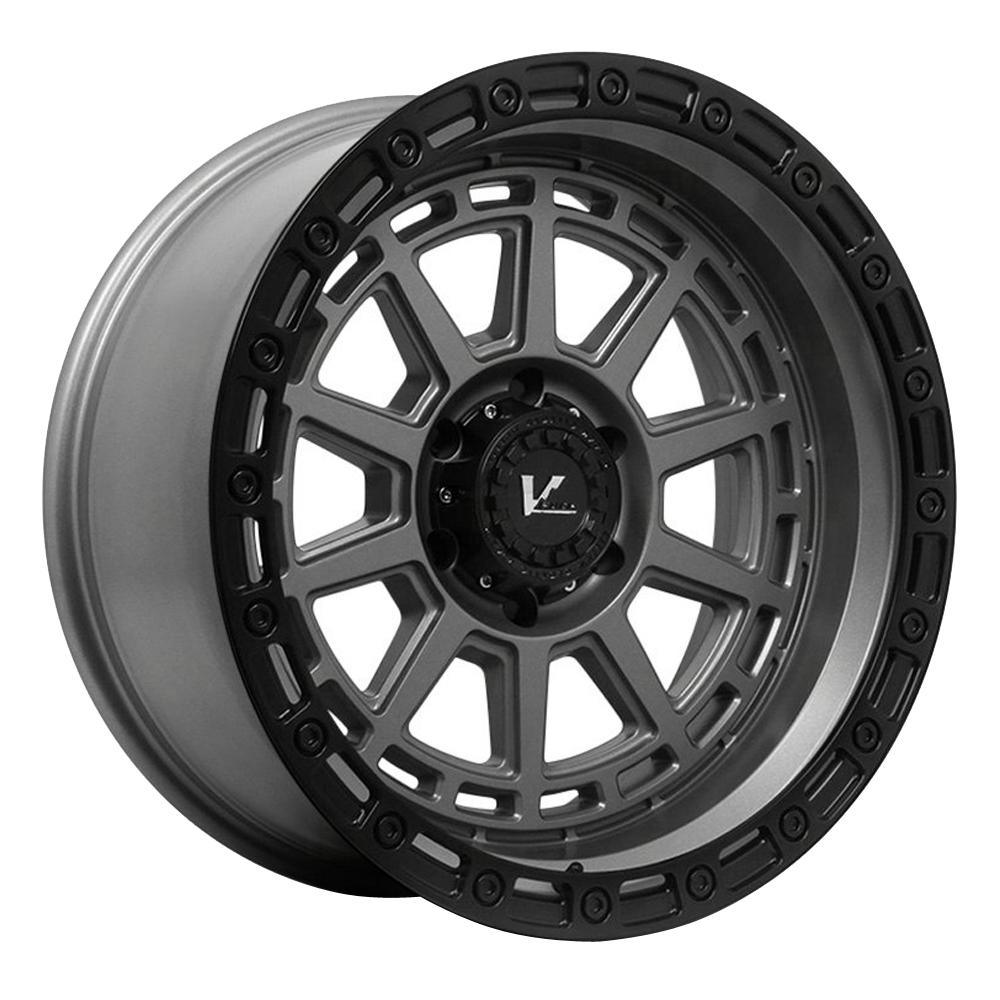 V-Rock Wheels VR17 Storm - Satin Grey W/Black Ring Rim
