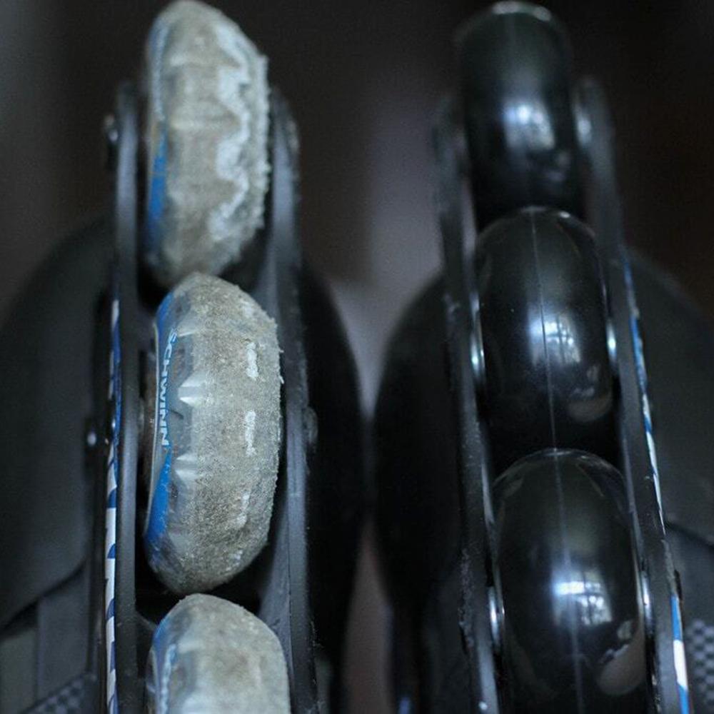 Worn Inline Skate Wheels
