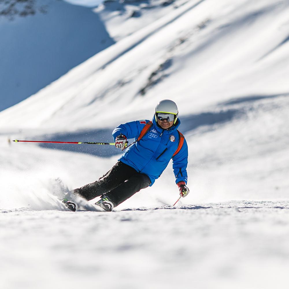 Rocker Ski Profile - Skiing