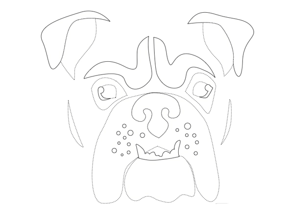 bulldog pumpkin stencil go wild with these animal pumpkin carving stencils 9871