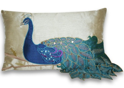Peacock Pillow Helps You Strut Your Stuff