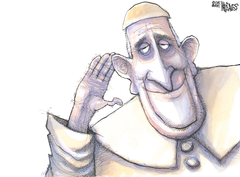 Pope Francis listening