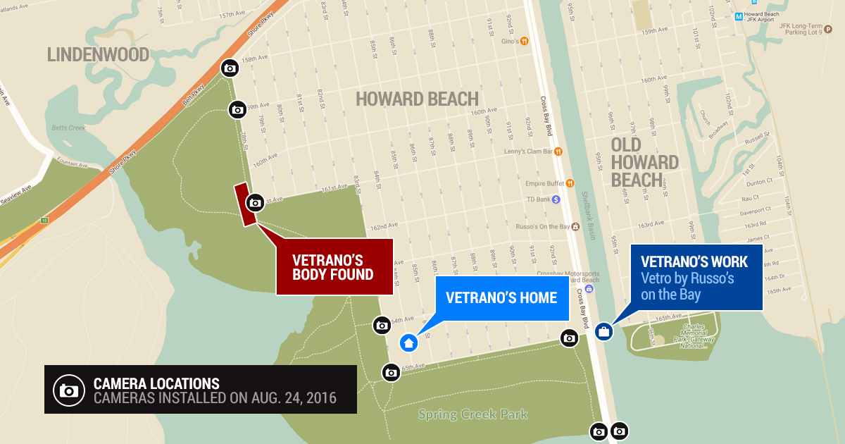 Howard Beach Murder Map