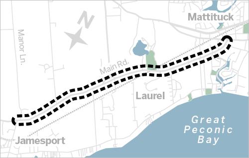 North Fork traffic map