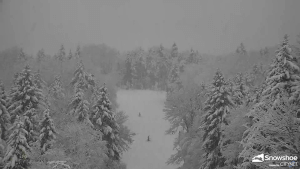 view of conditions at Boathouse and Ballhooter Lift