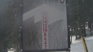 view of conditions at Snow Stake