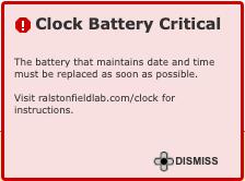 Clock Battery Depleted