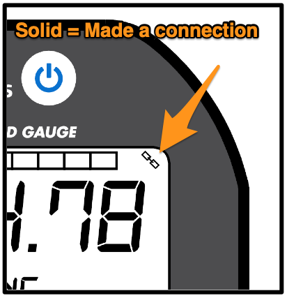 Field Gauge Link Icon Solid