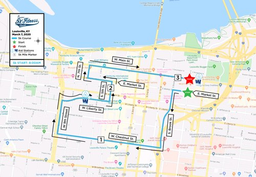 Chick-fil-A 5k Fitness Classic's Course Map