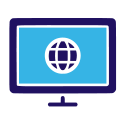 Online Computer Monitor Icon
