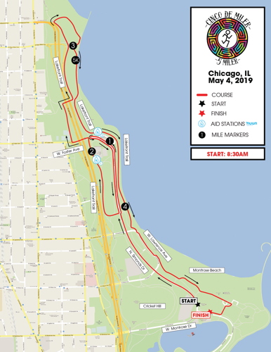 Cinco de Miler's Course Map