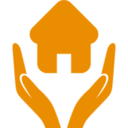Home with Hands Icon