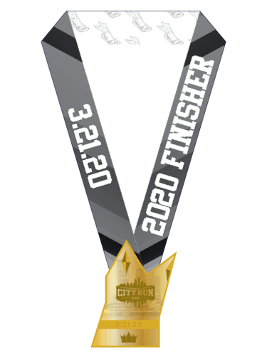 City Run 10k's Finishers Medal