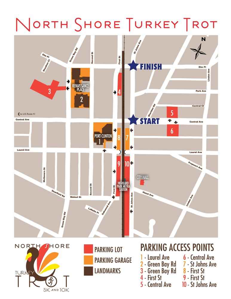 North Shore Turkey Trot's Parking
