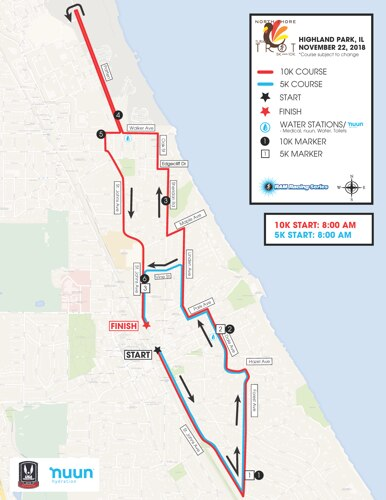 North Shore Turkey Trot's Course Map