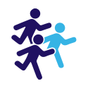 Group Running Icon