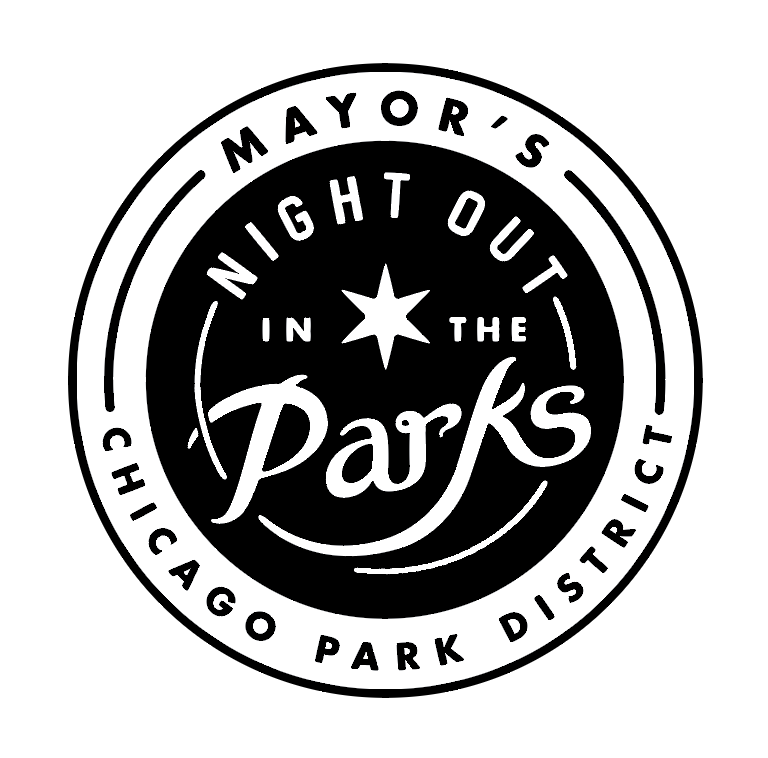 Chicago Park District's Night out in the Parks's Logo