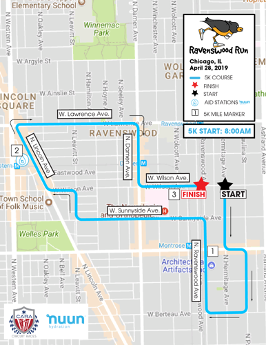 Ravenswood Run 5k's Course Map